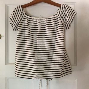 Madewell Tops - NWT Madewell Striped Off-shoulder Tee